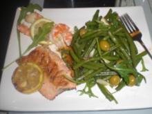 """Fischteller mit lauwarmen """"grünen"""" Bohnen - Rezept"""