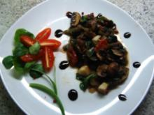 Champignonpfanne mit Feldsalat - Rezept
