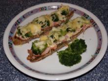 Kornspitz mit Schinken und Brokkoli mit Käse überbacken - Rezept