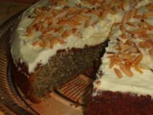 Mohnkuchen mit Mandelsplitter - Rezept