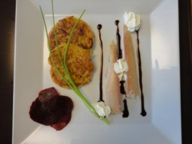 Käse Rösti  mit geräuchertem Saibling - Rezept - Bild Nr. 9