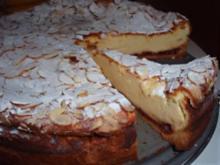 Kuchen: Käsekuchen mit Mandelkruste - Rezept