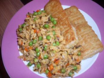 Fischfilet mit buntem Reis - Rezept