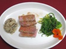 Grüner Algensalat mit Sesam und Tunfisch - Rezept