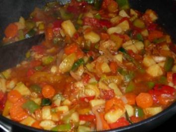 Rezept: Paprika-Gemüse-Pfanne