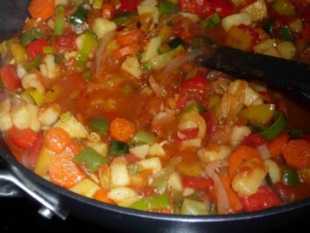 Paprika-Gemüse-Pfanne - Rezept - Bild Nr. 12