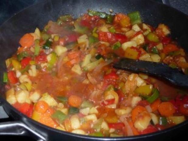 Paprika-Gemüse-Pfanne - Rezept - Bild Nr. 13