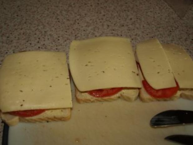 Tomaten-Zwiebel-Toast überbacken - Rezept - Bild Nr. 3