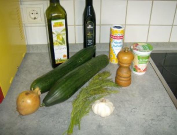 Gurkensalat mit Dillsoße - Rezept