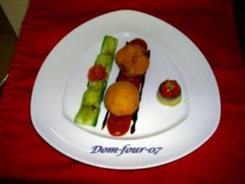 Reiskroketten mit Frischkäsefüllung - Rezept