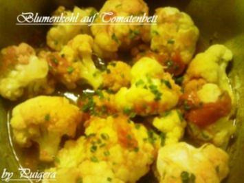 Beilage:Blumenkohl in Tomate - Rezept