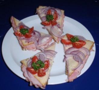Sandwich - Brotzeit - Rezept
