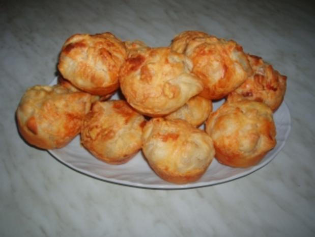 Blätterteig-Schinken-Muffins - Rezept