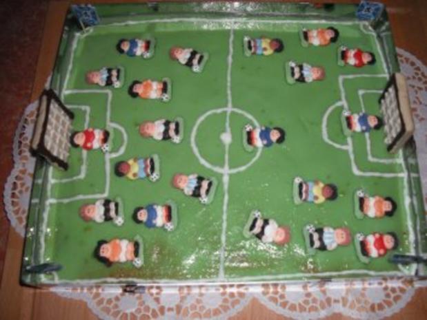 Fußballfeld Kuchen - Rezept - Bild Nr. 3