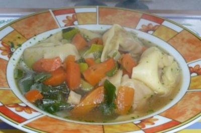 Eintopf: Tortelloni-Suppe - Rezept