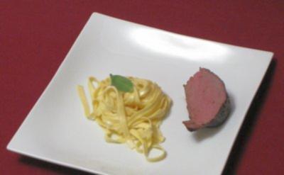 Getrüffelte Gorgonzola-Pasta an Rinderfilet - Rezept