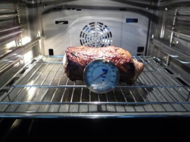 Roastbeef zum Entspannen mit Bohnen und Kroketten - Rezept - Bild Nr. 2