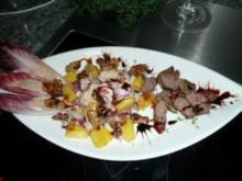 SALAT/ROTER CHICOREE-Salat-Ananas-Lammfilet - Rezept