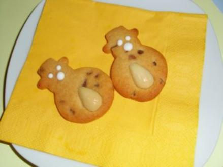 Plätzchen: Honig-Anis-Printen-Schneemänner - Rezept