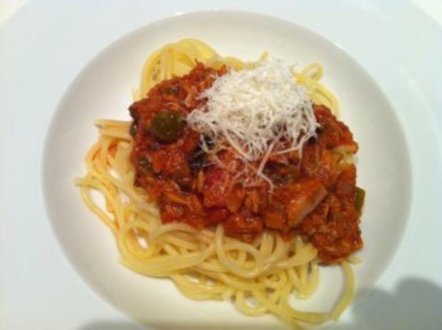 Spaghetti mit mediterraner Sauce - Rezept - Bild Nr. 4