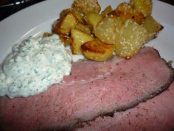 Kaltes Roastbeef mit Sesamkartoffeln - Rezept