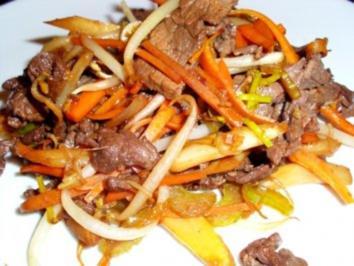 Fleisch: Rinderfilet Szechuan - Rezept