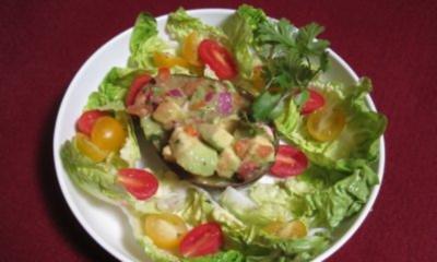 Gefüllte Avocado mit Olivenöl - Rezept