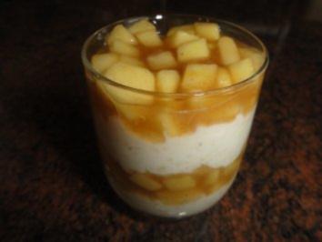 Dessert:   APFELSAUCE mit Zimtzucker - Rezept
