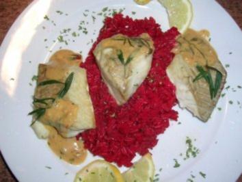 Seelachs-Loin auf Rote-Beete-Reis (solltet Ihr mal probieren) - Rezept