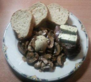 Rezept: Filetsteak mit Champignons