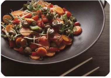frisches gemüse aus dem wok - Rezept