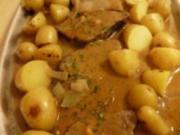 Rinderbraten eingelegt in Weisswein-Senf-Meerettich Marinade - Rezept