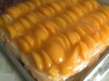 Blechkuchen -- Pfirsichkuchen - Rezept