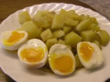 Kartoffelgemüse mit weichen Eiern - Rezept
