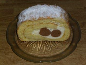 Rezept: Maroni-Biskuitrolle