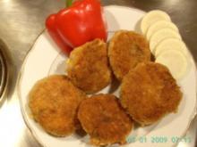 goldgelbe Fischfrikadellen - Rezept