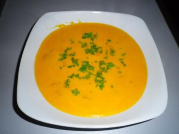Karotten - Kürbis - Suppe - Rezept