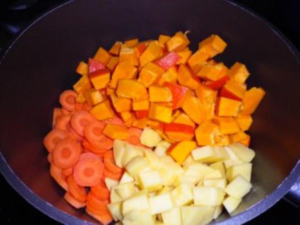 Karotten - Kürbis - Suppe - Rezept - Bild Nr. 2