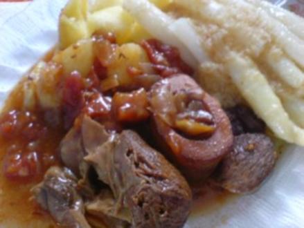 Rinderknochen-Fleisch - Rezept