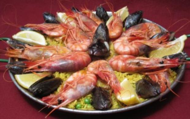 Paella mit Meeresfrüchten - Rezept