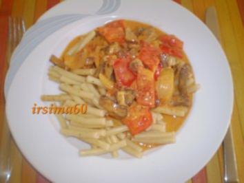 Schweinefilet - Pfanne mit Paprika - Rezept