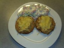 Überbackene Toastbrötchen mit Thunfischpaste - Rezept