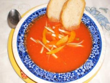Tomaten-Paprika-Suppe - Rezept