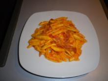 Käse - Salami - Nudeln - Rezept