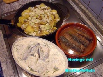 """""""Oma´s Bratkartoffeln"""" mit eingelegte Heringe...zur Auswahl ! - Rezept"""