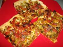 Leckere Gemüsepizza - Rezept