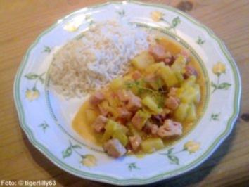 Kasseler-Curry mit Ananas - Rezept