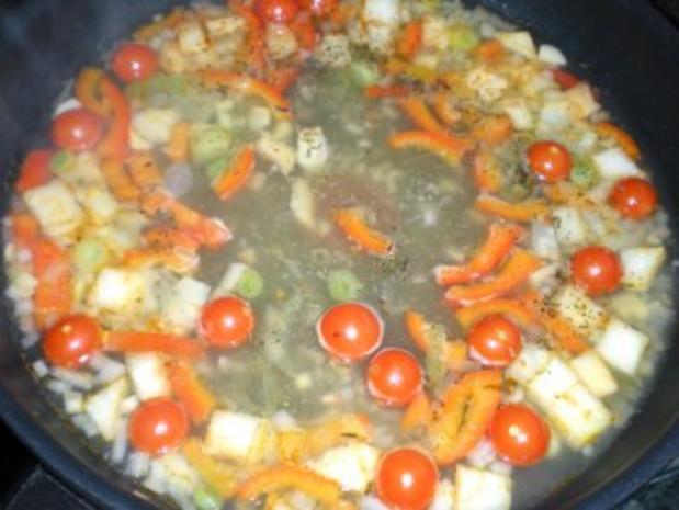 Meeresfrüchte: Gambas in Hummersauce auf Tagliatelle - Rezept - Bild Nr. 5