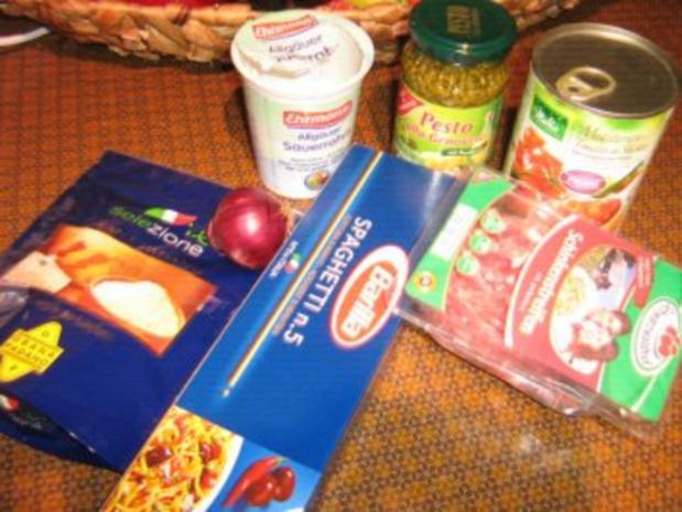 Spaghetti mit Schinken-Bolognese  scharf gewürzt - Rezept - Bild Nr. 2