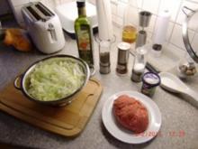 Chinakohl mit Rinderhackfleisch - Rezept
